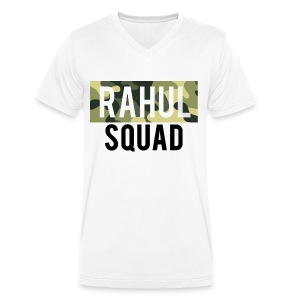 RahulSquad Official Camo T-Shirt - Men's Organic V-Neck T-Shirt by Stanley & Stella