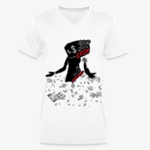 Cash - Männer Bio-T-Shirt mit V-Ausschnitt von Stanley & Stella
