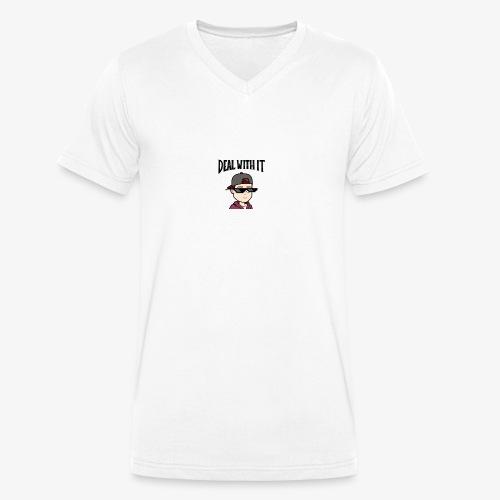 deal with it - Männer Bio-T-Shirt mit V-Ausschnitt von Stanley & Stella