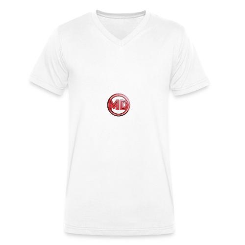 MDvidsTV logo - Mannen bio T-shirt met V-hals van Stanley & Stella