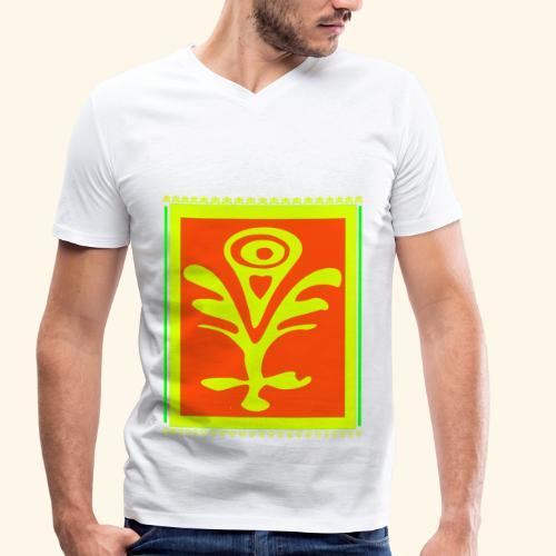 Neon Design - Männer Bio-T-Shirt mit V-Ausschnitt von Stanley & Stella