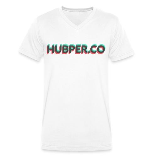 Hubper.co Overprinted || core colors - Mannen bio T-shirt met V-hals van Stanley & Stella