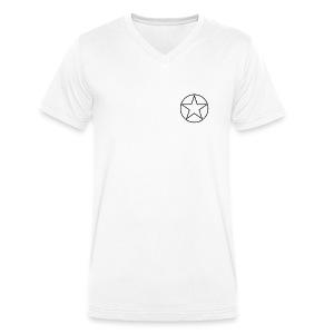 Reices - Mannen bio T-shirt met V-hals van Stanley & Stella