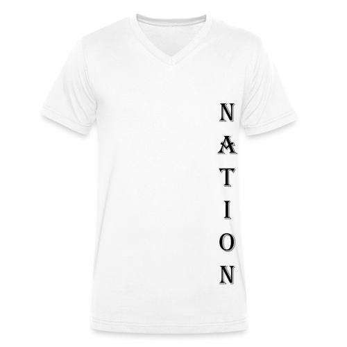 Nation - Mannen bio T-shirt met V-hals van Stanley & Stella