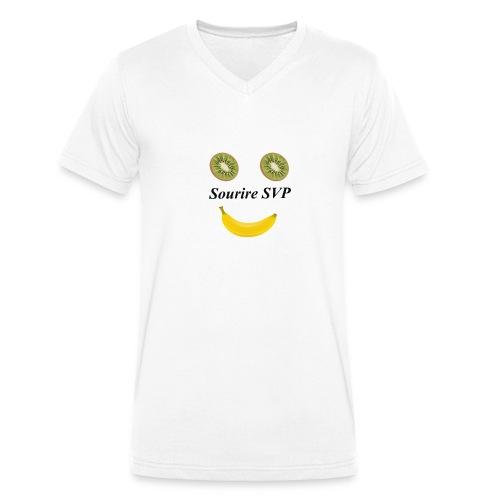 Lächeln Gesund lächeln - Männer Bio-T-Shirt mit V-Ausschnitt von Stanley & Stella