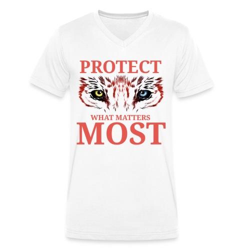T.Finnikin Designs - Protect - Men's Organic V-Neck T-Shirt by Stanley & Stella