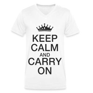 Keep calm - Männer Bio-T-Shirt mit V-Ausschnitt von Stanley & Stella
