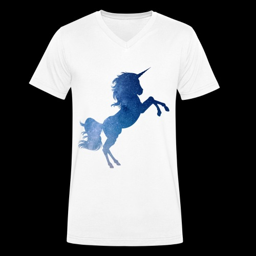 Galaxy Unicorn - Blue - Männer Bio-T-Shirt mit V-Ausschnitt von Stanley & Stella