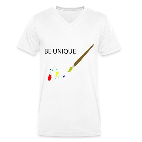 Be Unique - Männer Bio-T-Shirt mit V-Ausschnitt von Stanley & Stella