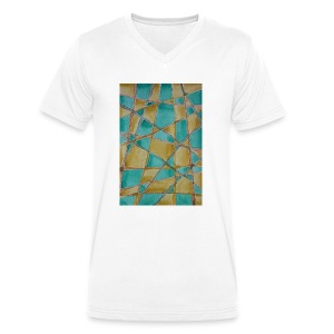 Watercolour Art painting - Men's Organic V-Neck T-Shirt by Stanley & Stella
