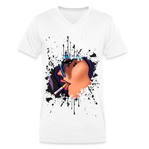 BEW - Økologisk Stanley & Stella T-shirt med V-udskæring til herrer