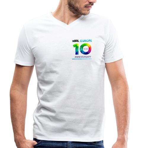 10th anniversary of XBRL Europe - Men's Organic V-Neck T-Shirt by Stanley & Stella