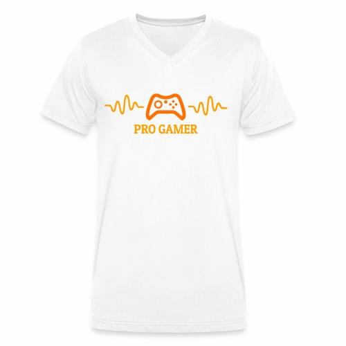 Pro Gamer Heartbeat - Männer Bio-T-Shirt mit V-Ausschnitt von Stanley & Stella