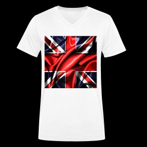Union Jack design - Men's Organic V-Neck T-Shirt by Stanley & Stella