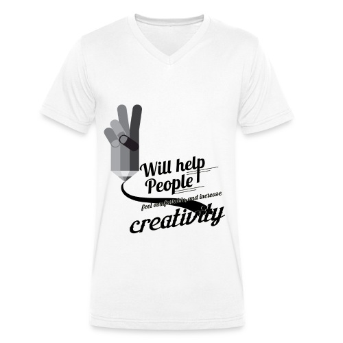crati - Men's Organic V-Neck T-Shirt by Stanley & Stella