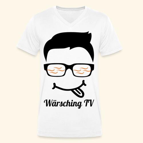 Logo WaerschingTV - Männer Bio-T-Shirt mit V-Ausschnitt von Stanley & Stella