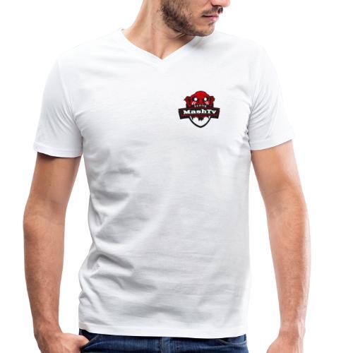 Transparentes Mash Merch Red/Black Logo - Männer Bio-T-Shirt mit V-Ausschnitt von Stanley & Stella