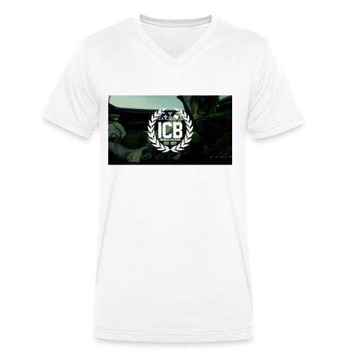 ICB Logo mit Hintergrund - Männer Bio-T-Shirt mit V-Ausschnitt von Stanley & Stella
