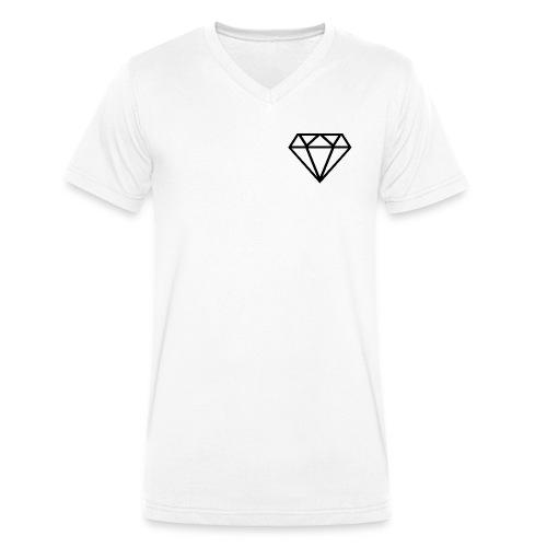 Diamante transparente - Camiseta ecológica hombre con cuello de pico de Stanley & Stella