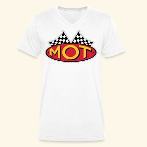 Mean OldTimers Logo T - Men's Organic V-Neck T-Shirt by Stanley & Stella