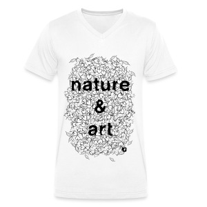 UG Nature and Art B/W - Men's Organic V-Neck T-Shirt by Stanley & Stella