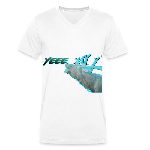 YEE! HIRSCH DESIGN - Männer Bio-T-Shirt mit V-Ausschnitt von Stanley & Stella