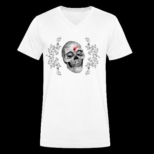 Skull One Bullet - T-shirt bio col V Stanley & Stella Homme