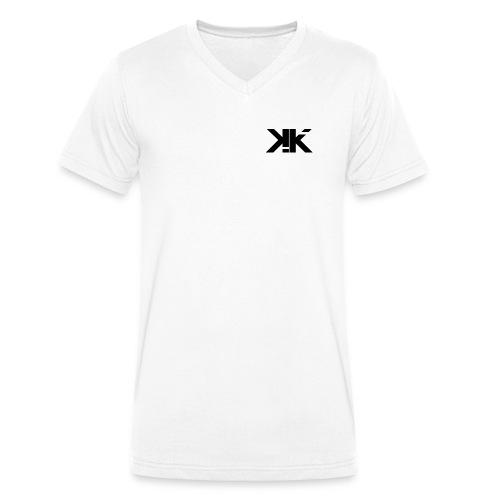 KennyK Logo Schwarz - Männer Bio-T-Shirt mit V-Ausschnitt von Stanley & Stella