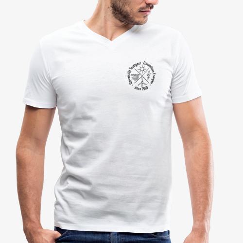 Chest Logo schwarz - Männer Bio-T-Shirt mit V-Ausschnitt von Stanley & Stella