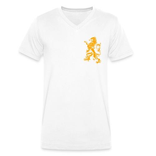 NL Leeuw Oranje Koningsdag - Mannen bio T-shirt met V-hals van Stanley & Stella