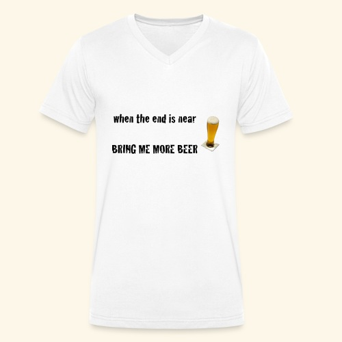 more beer - Männer Bio-T-Shirt mit V-Ausschnitt von Stanley & Stella