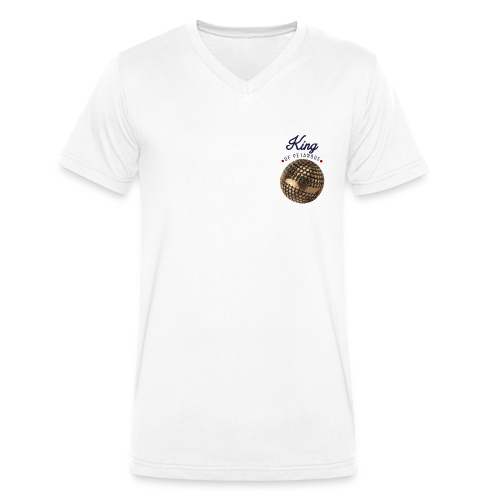 king of petanque - T-shirt bio col V Stanley & Stella Homme
