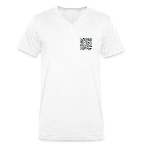 Optik Streetwear, 60er Design - Männer Bio-T-Shirt mit V-Ausschnitt von Stanley & Stella