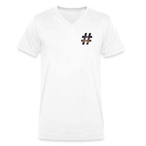 plainhashtag - Männer Bio-T-Shirt mit V-Ausschnitt von Stanley & Stella