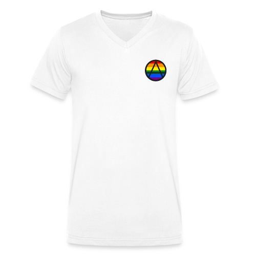 Logo ZELA drapeux gay - T-shirt bio col V Stanley & Stella Homme