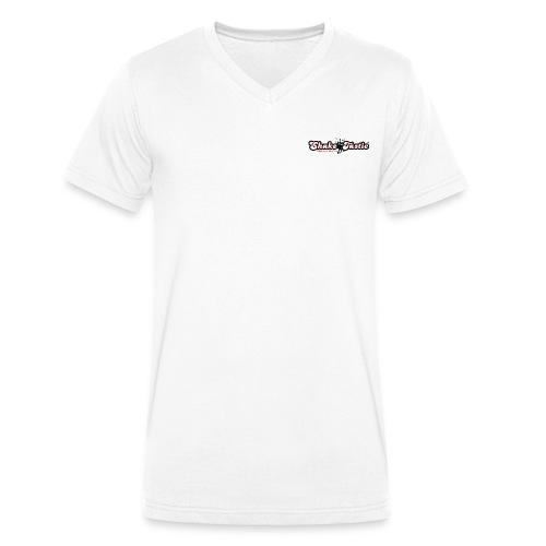 shaketastic logo who red - Men's Organic V-Neck T-Shirt by Stanley & Stella
