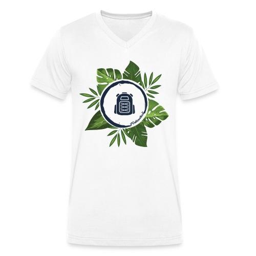 Blätterrauschen - Männer Bio-T-Shirt mit V-Ausschnitt von Stanley & Stella