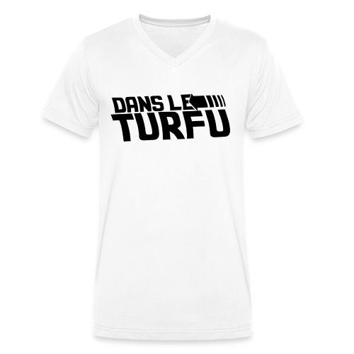 Dans le turfu - T-shirt bio col V Stanley & Stella Homme