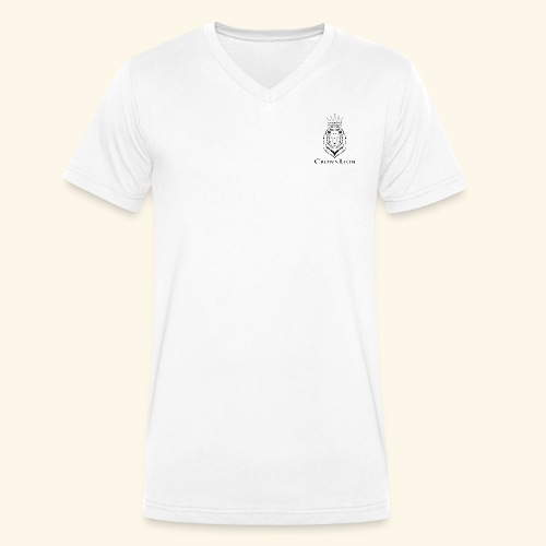 CrownLion - Camiseta ecológica hombre con cuello de pico de Stanley & Stella