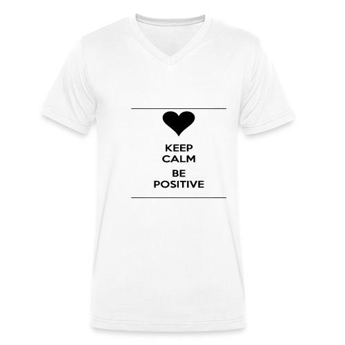 keep- positive - T-shirt ecologica da uomo con scollo a V di Stanley & Stella