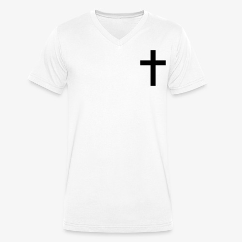 Christian cross - Men's Organic V-Neck T-Shirt by Stanley & Stella
