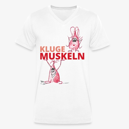 Kluge Muskeln - Männer Bio-T-Shirt mit V-Ausschnitt von Stanley & Stella