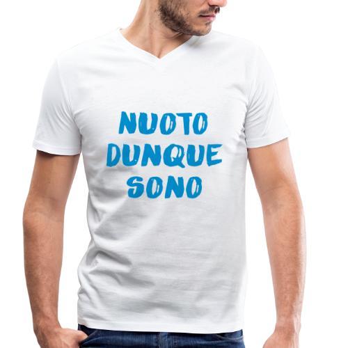 NUOTO DUNQUE SONO - T-shirt ecologica da uomo con scollo a V di Stanley & Stella