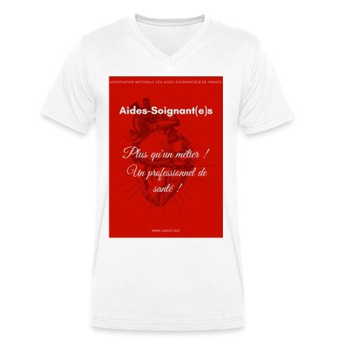 Association Nationale des aides soignant e s de fr - T-shirt bio col V Stanley & Stella Homme