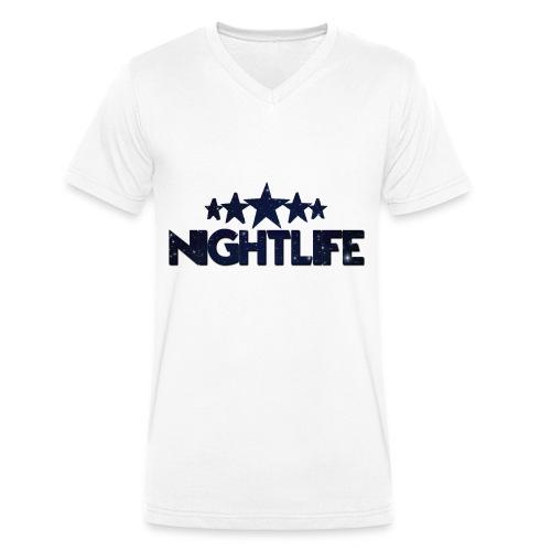 NIGHT LIFE - Mannen bio T-shirt met V-hals van Stanley & Stella