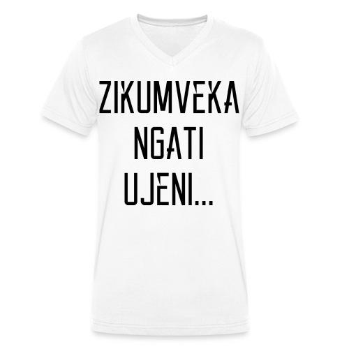 Zikumveka Ngati Black - Men's Organic V-Neck T-Shirt by Stanley & Stella