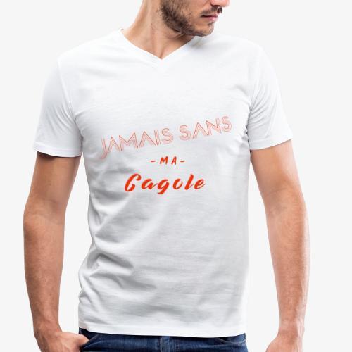 JAMAIS SANS MA CAGOLE - T-shirt bio col V Stanley & Stella Homme
