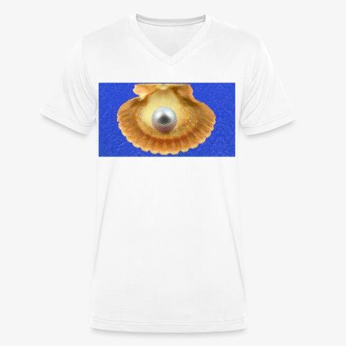 Mossel - Mannen bio T-shirt met V-hals van Stanley & Stella