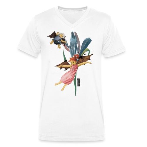 Flying kids - Männer Bio-T-Shirt mit V-Ausschnitt von Stanley & Stella