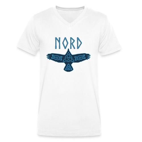Nord Raabe Wikinger Germanen - Männer Bio-T-Shirt mit V-Ausschnitt von Stanley & Stella